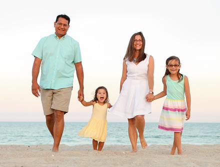 Dr Raaj Amin and Family